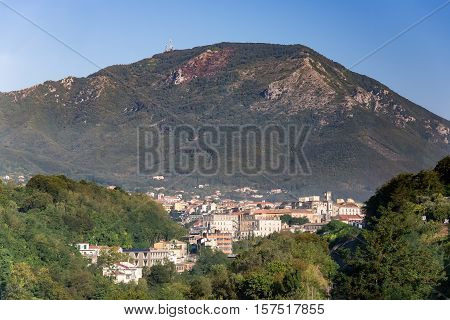 View of Cava de Tirreni town in Campania Italy