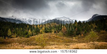 Rodna Mountains in early winter, Transylvania - Romania poster