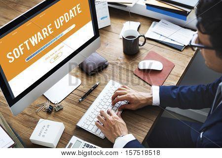 Upgrade Update Software Latest Fresh Software Concept