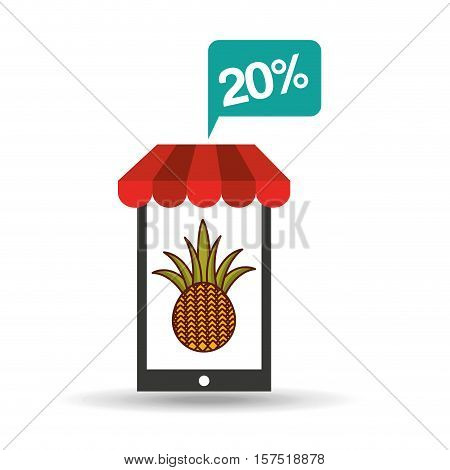 pineapple discount shop online icon vector illustration eps 10