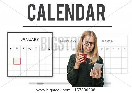Calendar Appointment Agenda Schedule Planning Concept