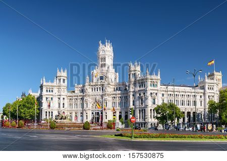 The Cybele Palace (palace Of Communication), Madrid, Spain