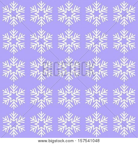 Cute elegant background with snowflakes lilac illustration