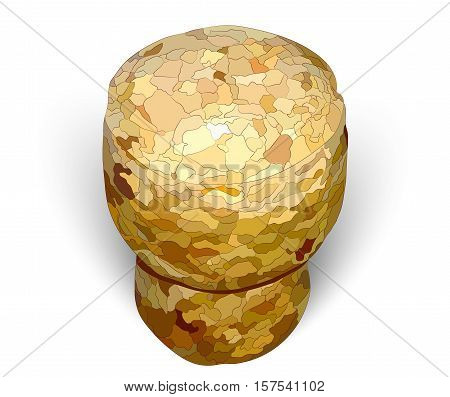 champagne cork white background photorealistic macro vector