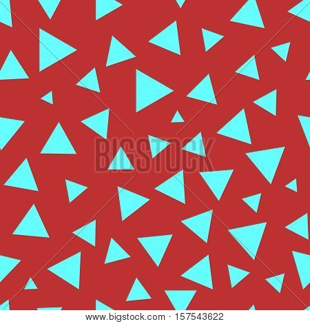 Triangle chaotic seamless pattern. Fashion graphic background design. Modern stylish abstract colorful texture. Template for prints textiles wrapping wallpaper website Stock VECTOR illustration