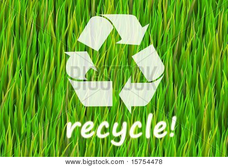 Recycle Now and Natural Now Abstract Background
