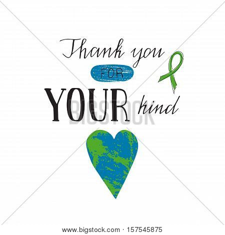 Vector hand drawn lettering on clean white background. Donate Life Awareness. Organ transplantation, healthcare concept. For card, logo, badge, t-shirt print, poster, banner design.