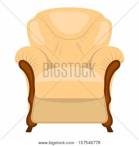 Armchair vector illustration isolated on a white background.