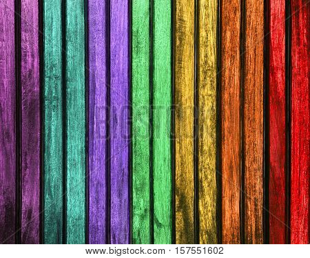 Colorful wood texture. colorful painted wood panels. colorful wood panels texture background