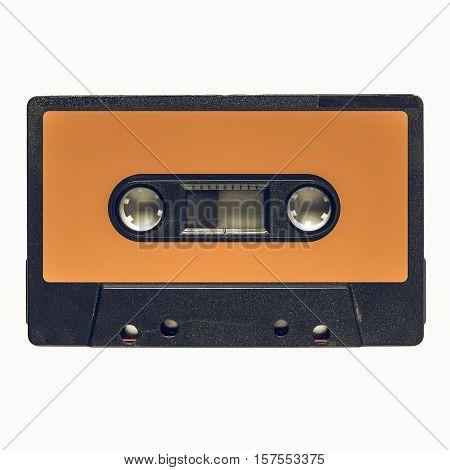 Vintage Looking Tape Cassette Orange Label