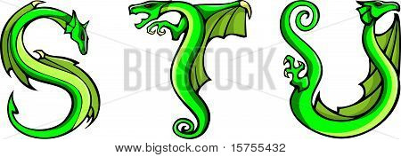 Dragons alphabet: S,T,U