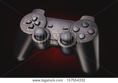 portrait of a wireless joypad for console