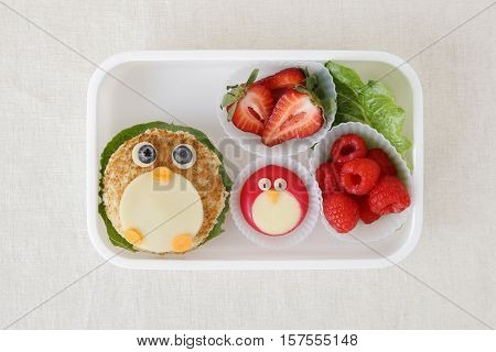 penguin healthy lunch box fun food art for kids