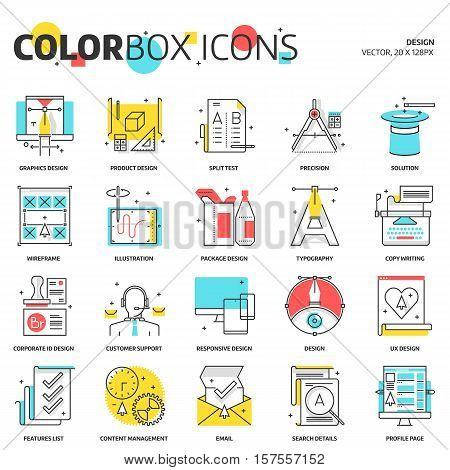 Color Box Icons, Design Concept