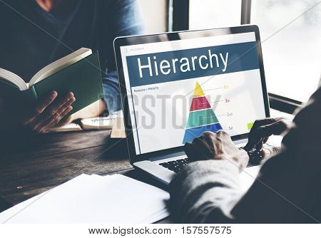 Hierarchy Organization Structure Position Chart Concept