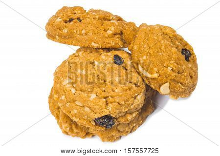 the meal rasin cookies isolate on white