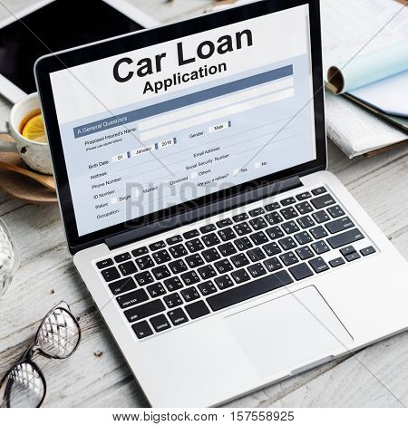 Car Loan Finance Application Money Concept