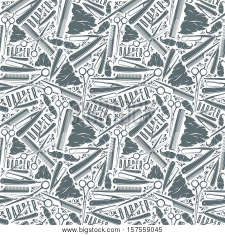 Seamless Pattern For Barber Shop