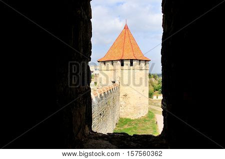 fortress in Bender, Moldova Republic of Transnistria - October 01 2016. Medieval castle ruins in Bender Transnistria Moldova