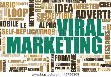 poster of Viral Marketing Creative Concept as Abstract Art