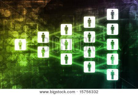 Peer to Peer P2P File Sharing Diagram