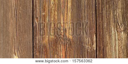 Barn Wooden Wall Planking Texture. Reclaimed Old Wood Board Rustic Horizontal Background. Home Interior Design Element In Modern Vintage Style. Hardwood Dark Brown Structure. Abstract Web Banner