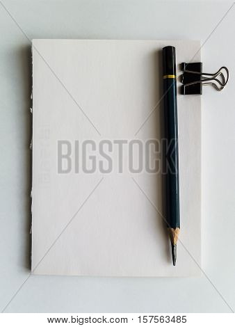 The Notebook with pencil , Note for daily use