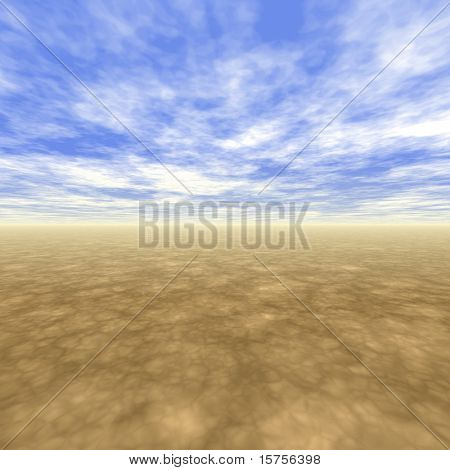 Freedom Landscape With Light Blue Clouds
