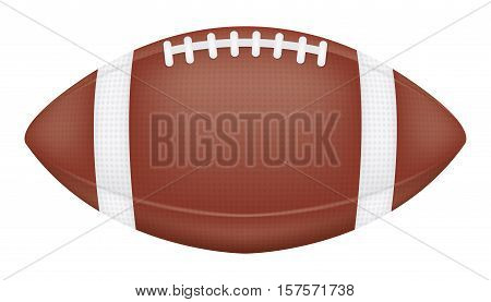 a real american football on a white background