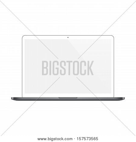 laptop white color with blank screen isolated on white background. stock vector illustration eps10