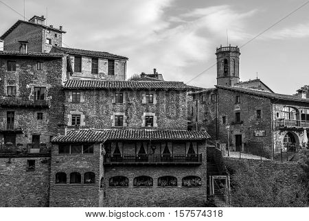 Rupit i Pruit, Catalonia, October 04, 2016. Rupit is a village in the county of Osona, in the subregion of the Collsacabra, in Catalonia, Spain.