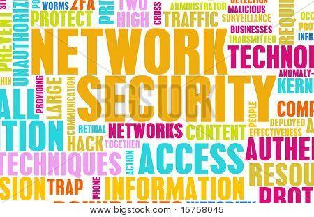 Netzwerksicherheit als Kunst abstrakt Hintergrund