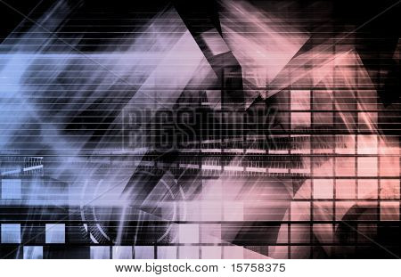 Advanced Technology Science As a Art Background