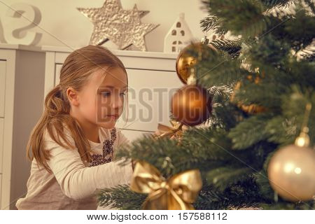 helping hands from child beautifying tree