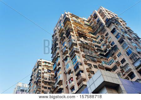 Bottom View Of Houses In Macau
