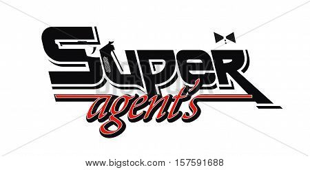 Logo superagent. Super agents. Isolated vectror Illustration
