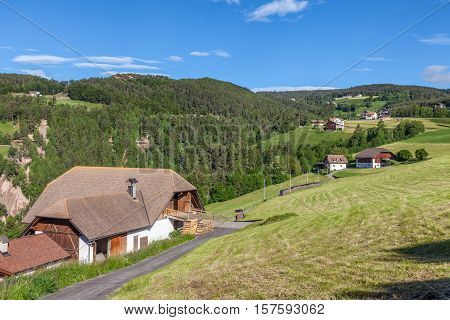 Mountain Farms In Mittelberg / Ritten