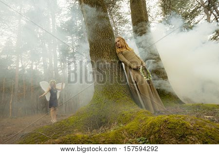 Elf female fairytale forest