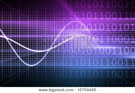 Purple Virtual Business Analysis with Graph Chart