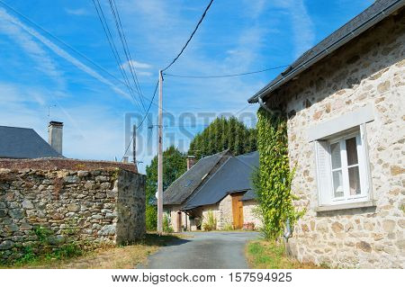 Houses in a little French hamlet