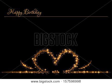 Birthday Poster With Shinning Stars