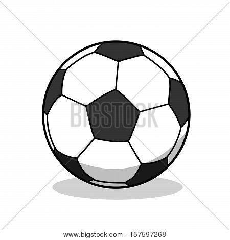 Football Soccer Goal Sport Ball. A hand drawn vector illustration of a soccer ball.