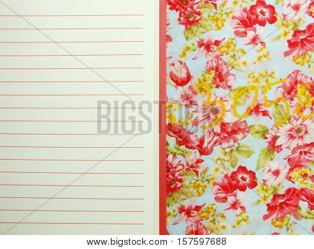 The Open Notebook Paper With Red Lines