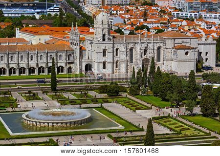The Jeronimos Monastery - Lisbon Portugal - architecture background