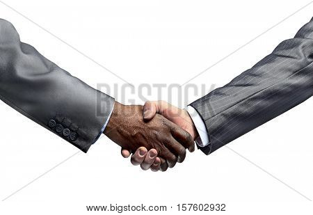concept of partnership and confidence in the partner.handshake i
