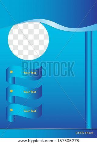 Flyer or cover design with baner. Vector illustration.
