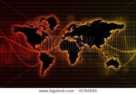 Technology Abstract World Background as Clip Art poster