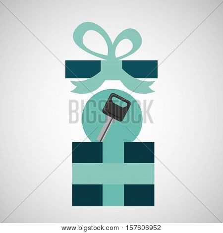 gift father day with key car vector illustration esp 10