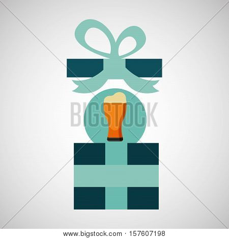 gift father day with cold beer vector illustration esp 10