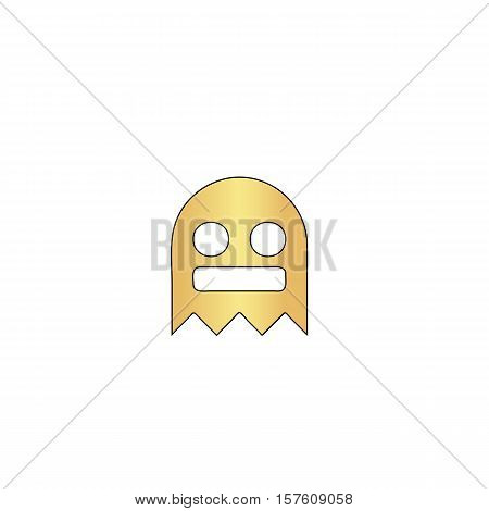 ghost Gold vector icon with black contour line. Flat computer symbol